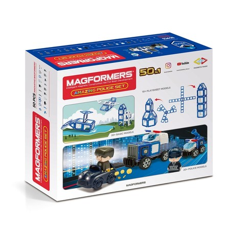 MAGFORMERS 717002 Amazing Police Set
